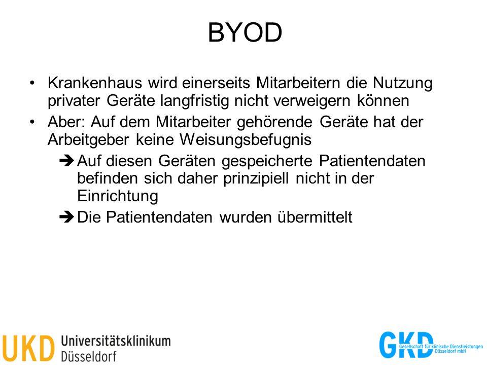 BYOD Krankenhaus wird einerseits Mitarbeitern die Nutzung privater Geräte langfristig nicht verweigern können.