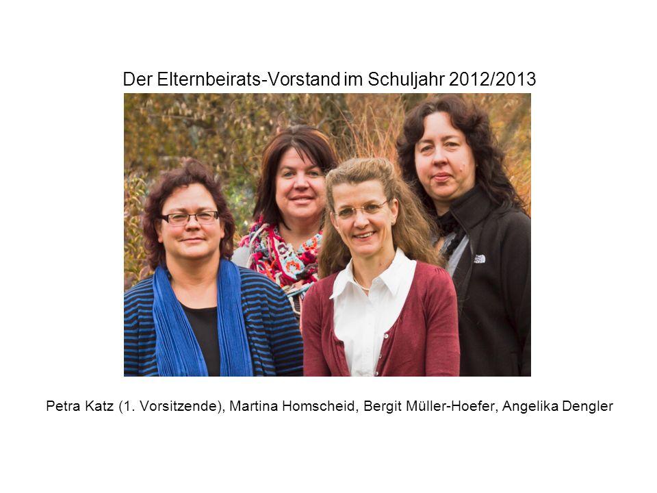 Der Elternbeirats-Vorstand im Schuljahr 2012/2013 Petra Katz (1