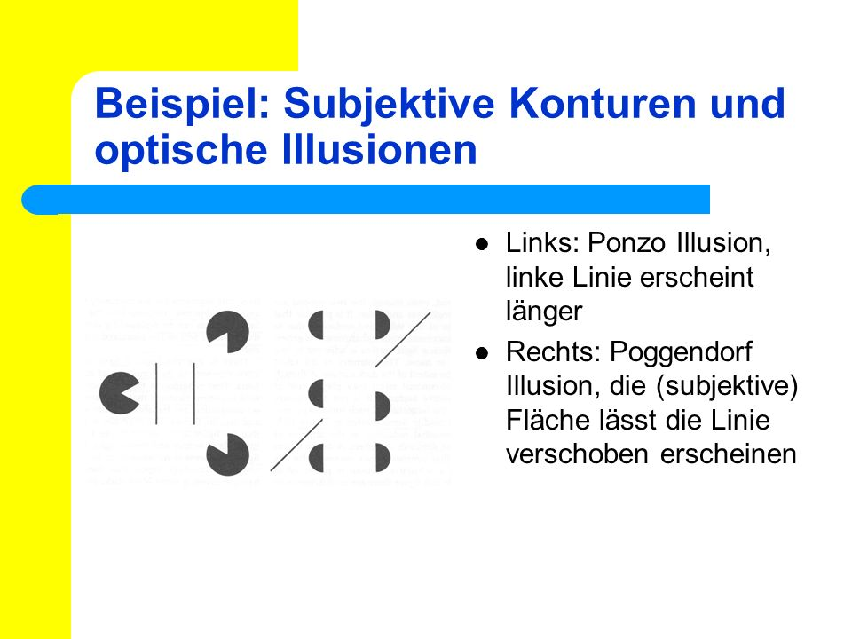 Beispiel: Subjektive Konturen und optische Illusionen