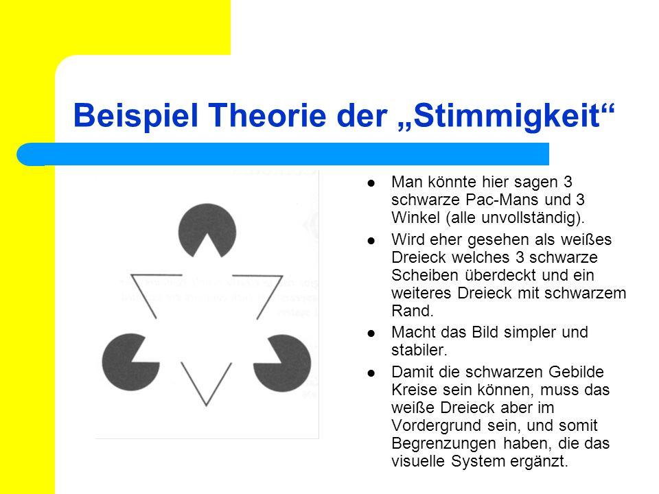 """Beispiel Theorie der """"Stimmigkeit"""