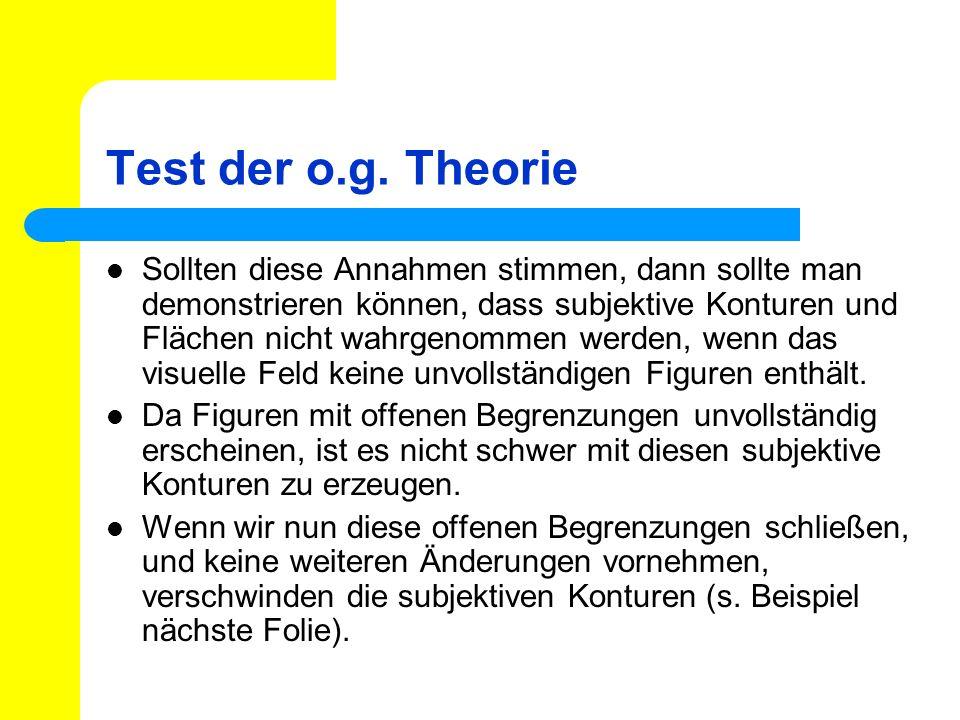 Test der o.g. Theorie