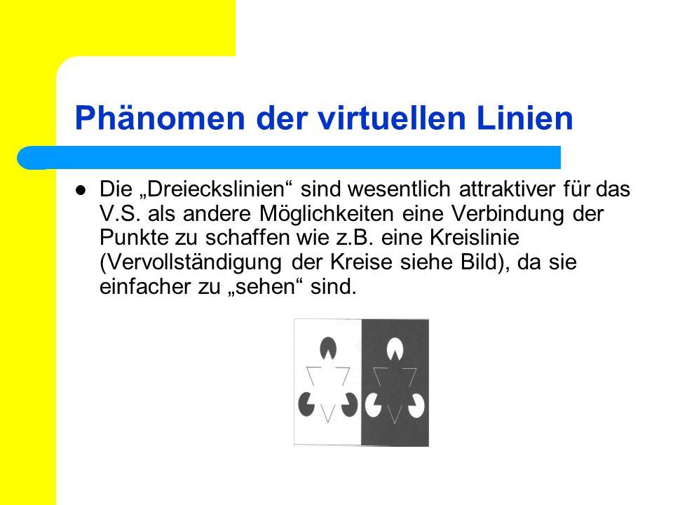 Phänomen der virtuellen Linien