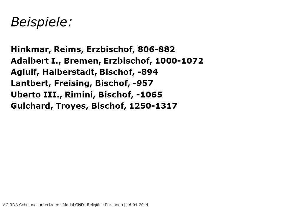 Beispiele: Hinkmar, Reims, Erzbischof, 806-882