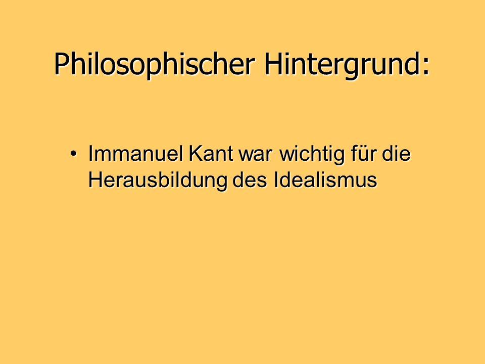 Philosophischer Hintergrund: