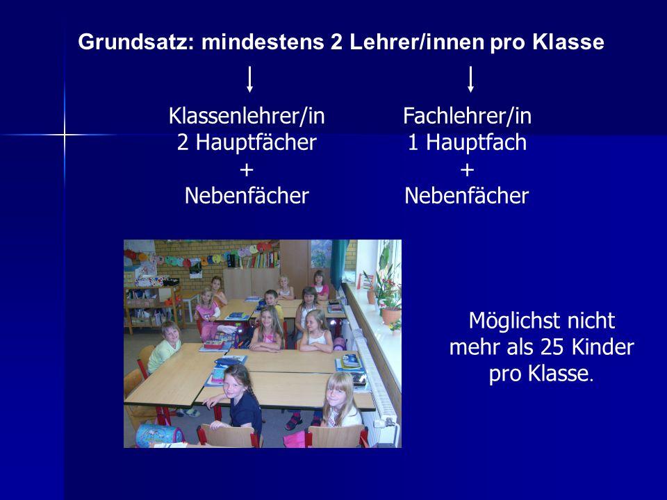 Möglichst nicht mehr als 25 Kinder pro Klasse.