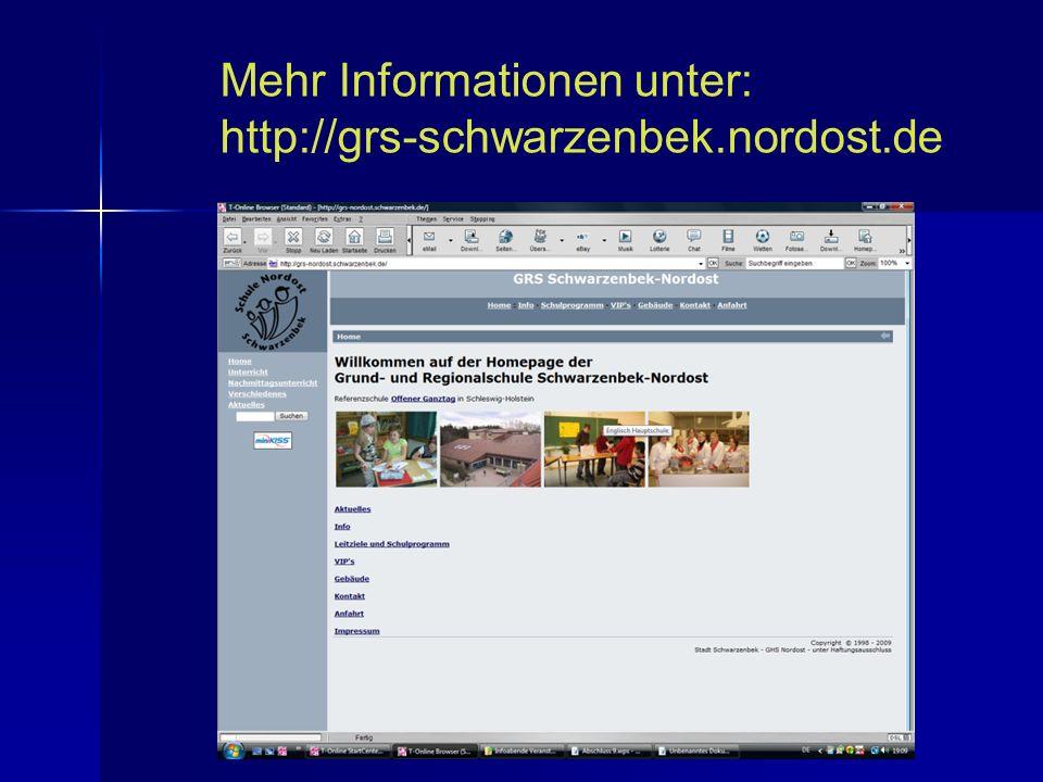 Mehr Informationen unter: http://grs-schwarzenbek.nordost.de