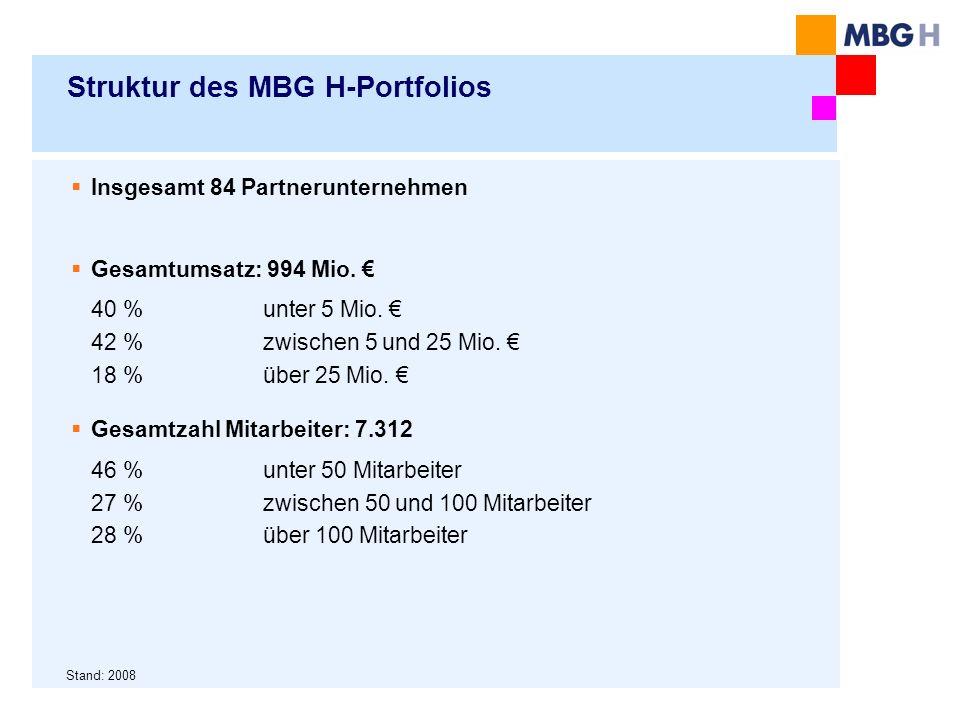 Struktur des MBG H-Portfolios