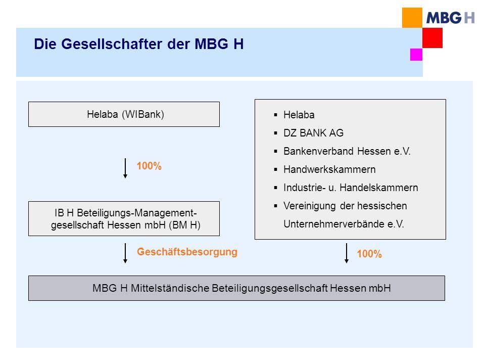 Die Gesellschafter der MBG H