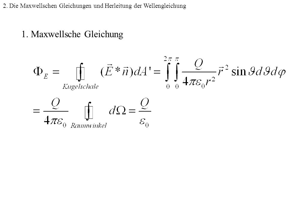 1. Maxwellsche Gleichung