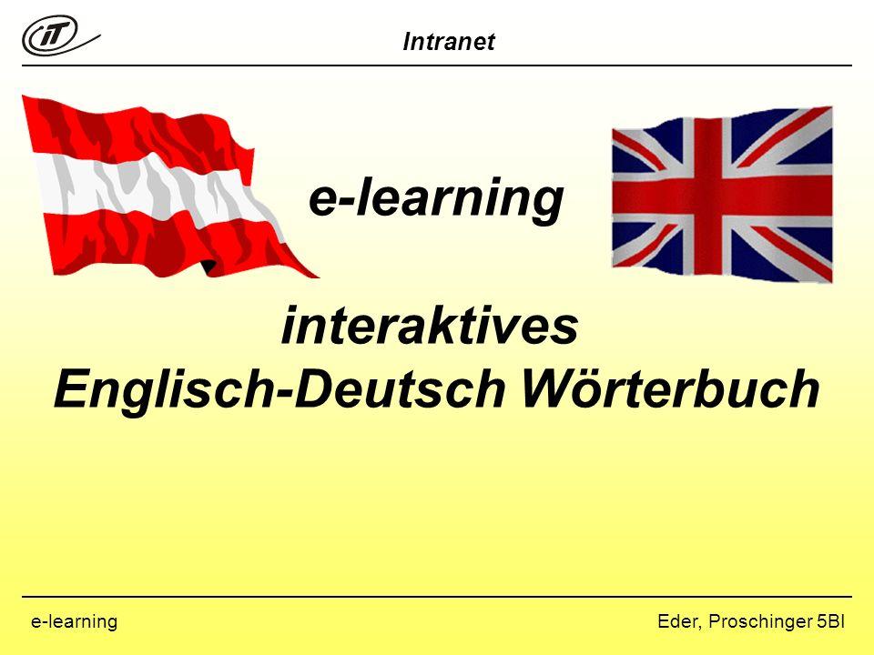 Englisch-Deutsch Wörterbuch