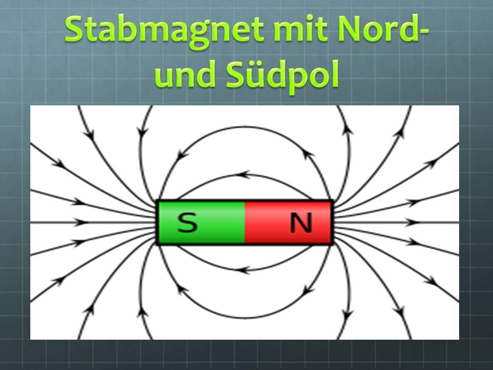 Stabmagnet mit Nord- und Südpol