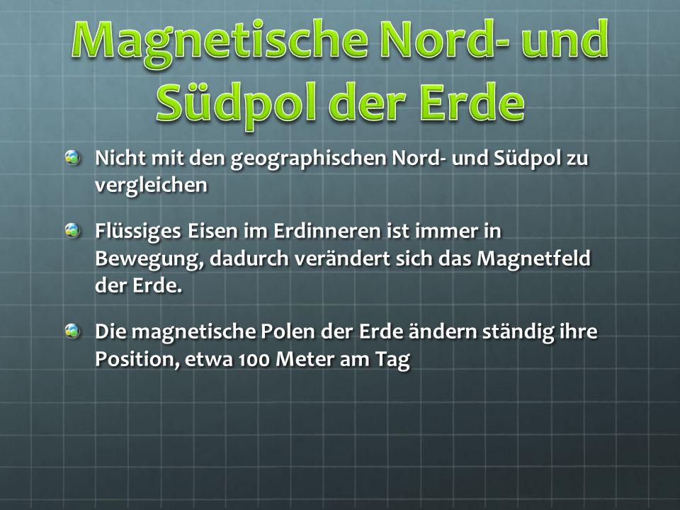 Magnetische Nord- und Südpol der Erde