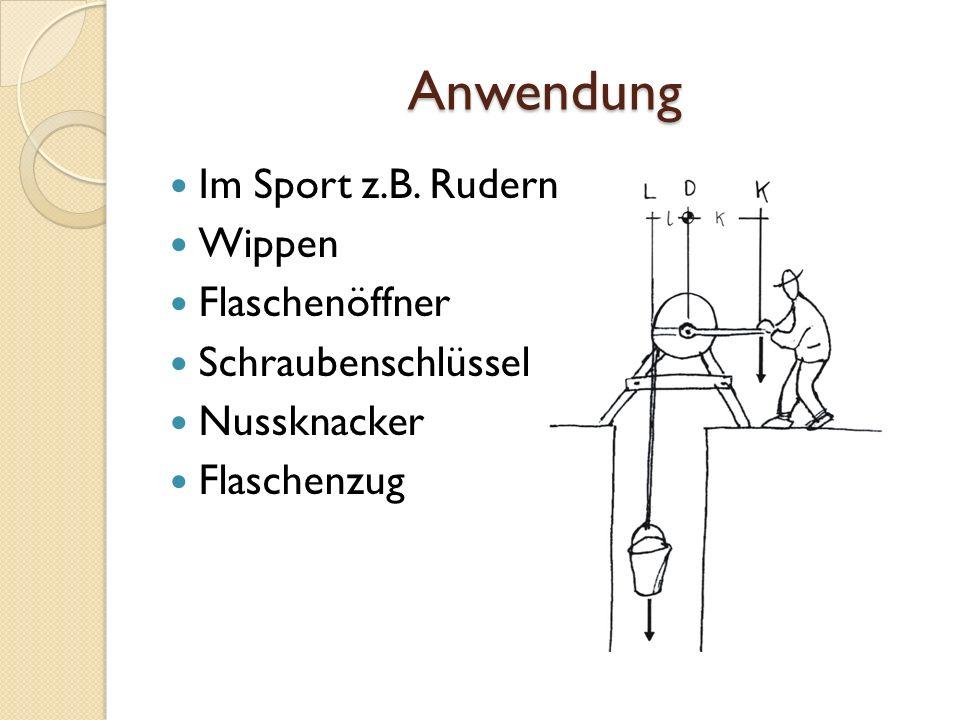Anwendung Im Sport z.B. Rudern Wippen Flaschenöffner