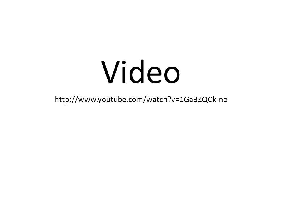 Video http://www.youtube.com/watch v=1Ga3ZQCk-no
