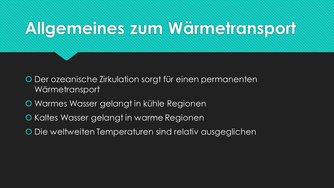 Allgemeines zum Wärmetransport