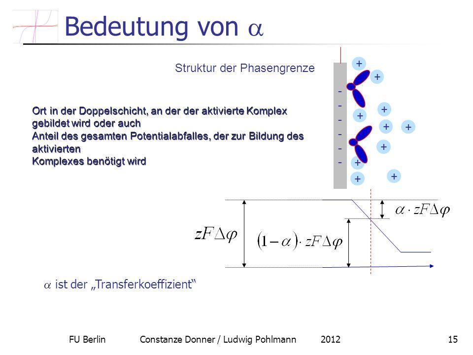 Bedeutung von  + Struktur der Phasengrenze -