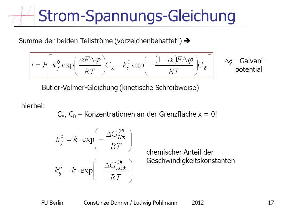 Strom-Spannungs-Gleichung