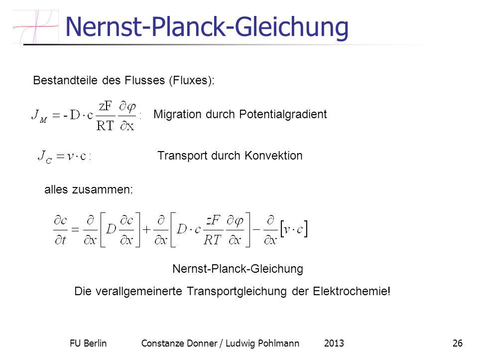 Nernst-Planck-Gleichung