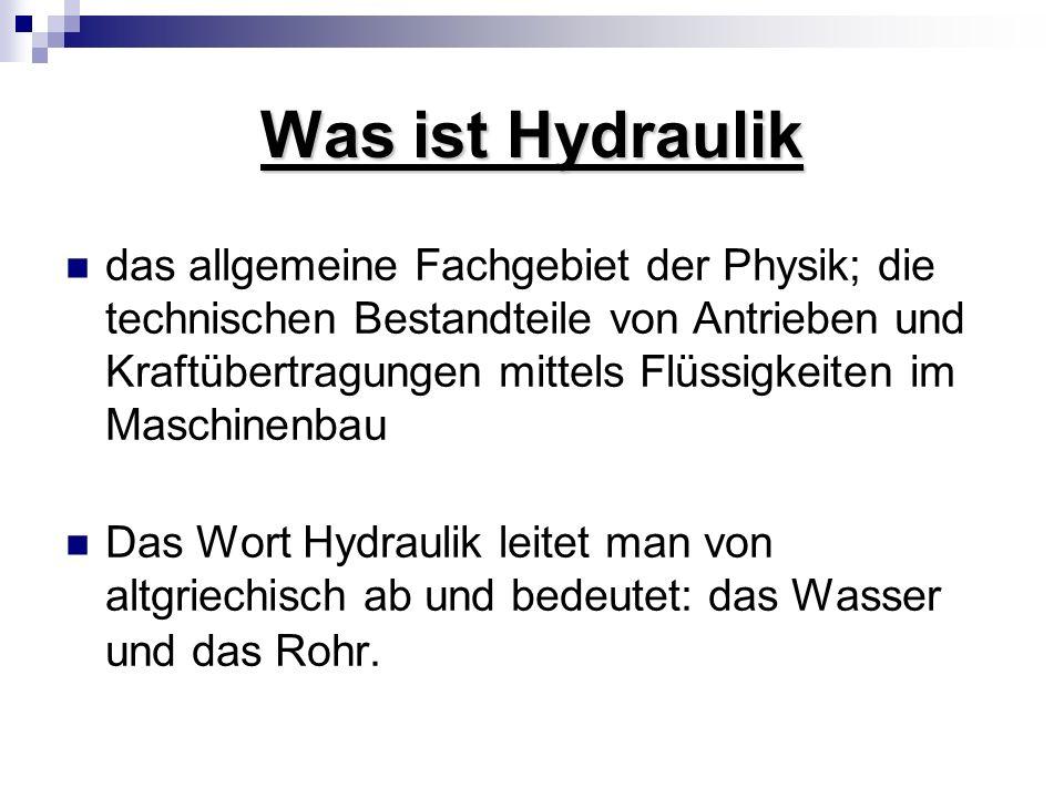 Was ist Hydraulik