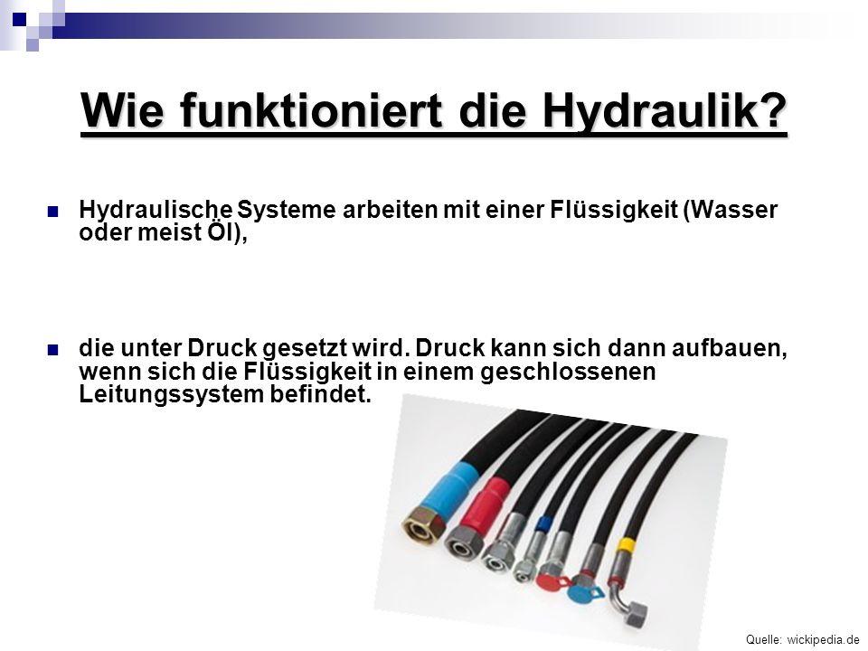 Wie funktioniert die Hydraulik