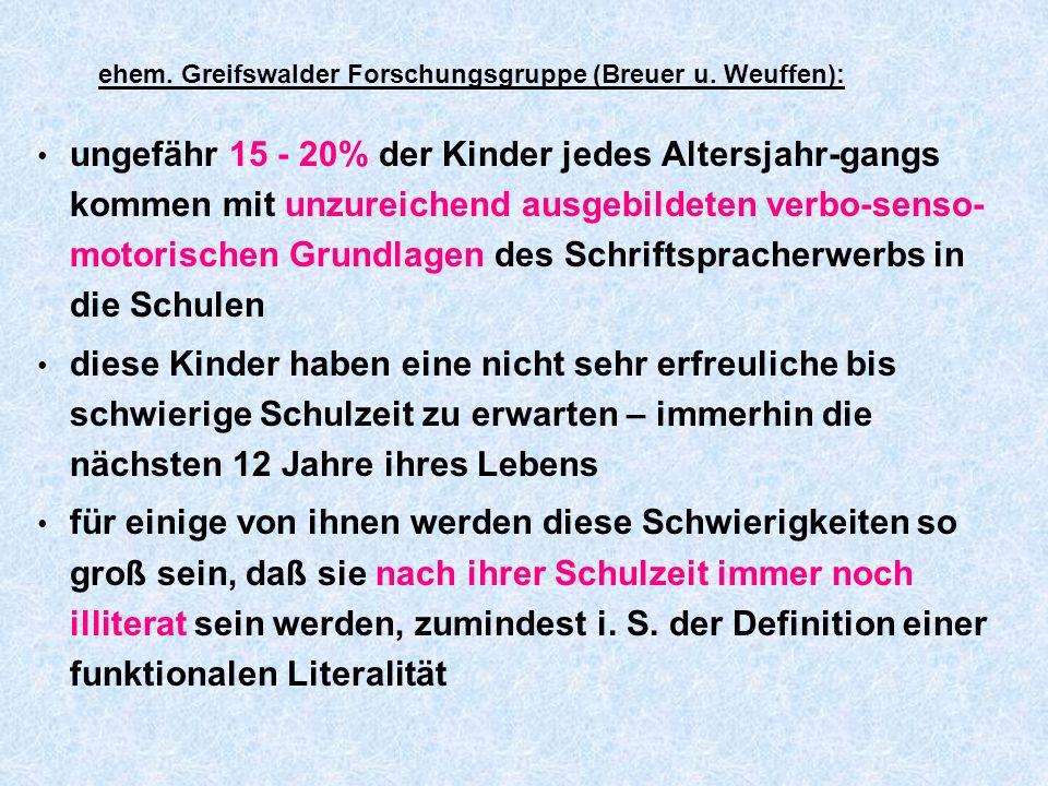ehem. Greifswalder Forschungsgruppe (Breuer u. Weuffen):