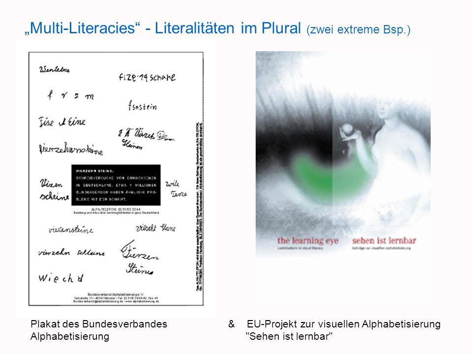 """""""Multi-Literacies - Literalitäten im Plural (zwei extreme Bsp.)"""