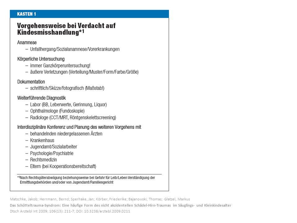Matschke, Jakob; Herrmann, Bernd; Sperhake, Jan; Körber, Friederike; Bajanowski, Thomas; Glatzel, Markus