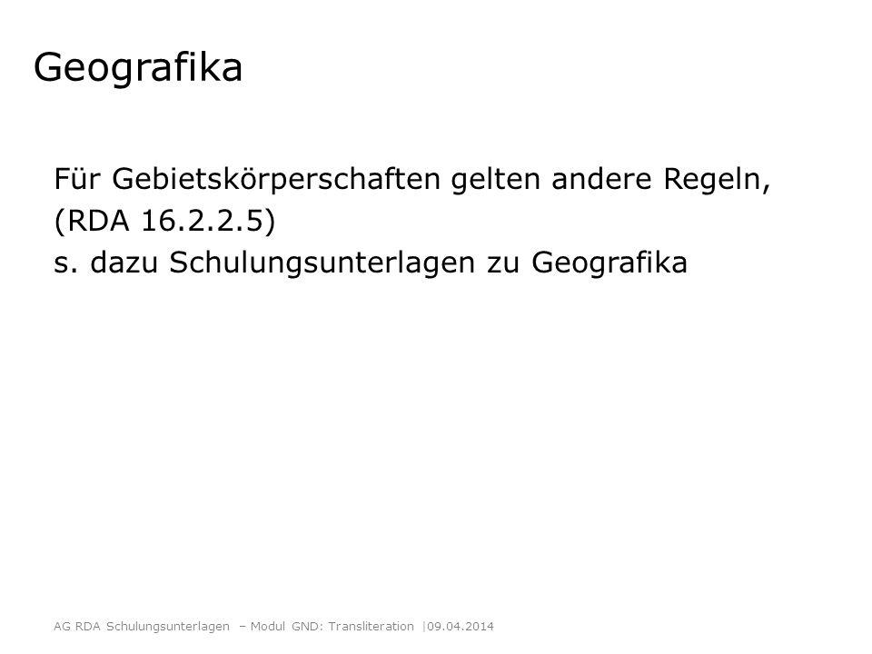 Geografika Für Gebietskörperschaften gelten andere Regeln,