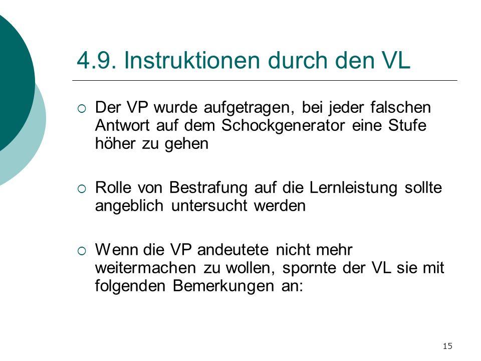 4.9. Instruktionen durch den VL