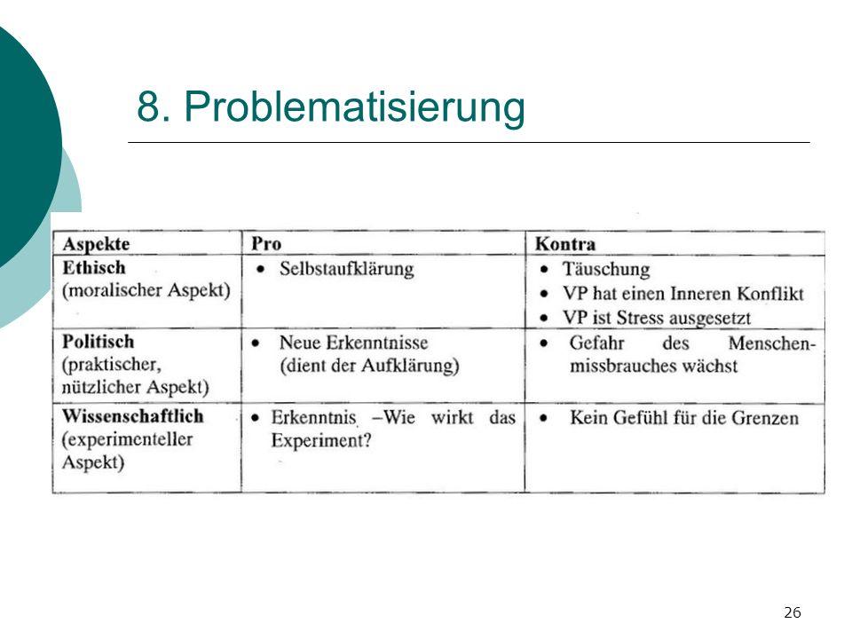8. Problematisierung