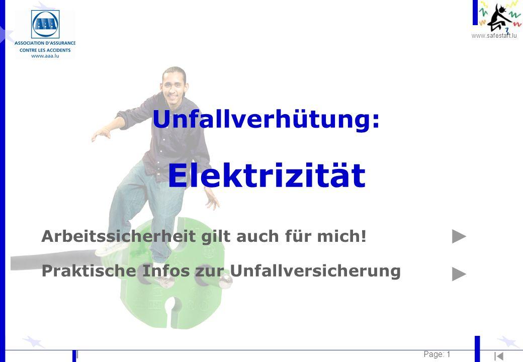 Unfallverhütung: Elektrizität