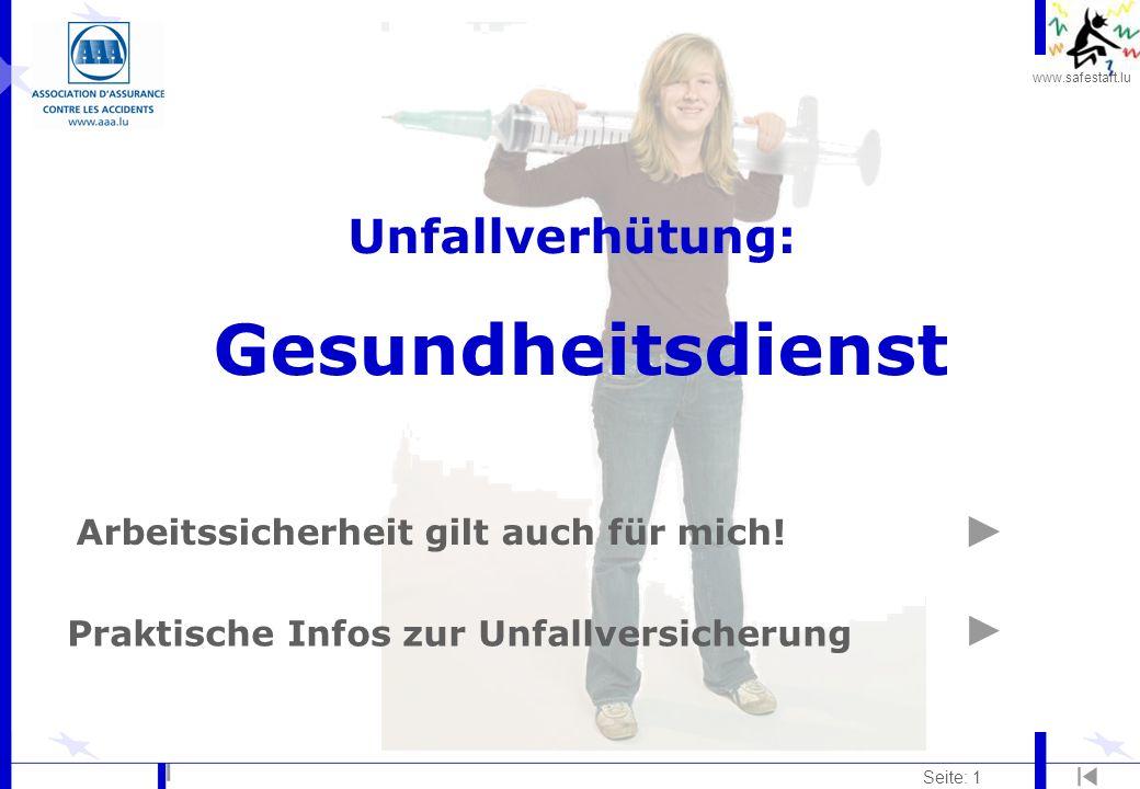 Unfallverhütung: Gesundheitsdienst
