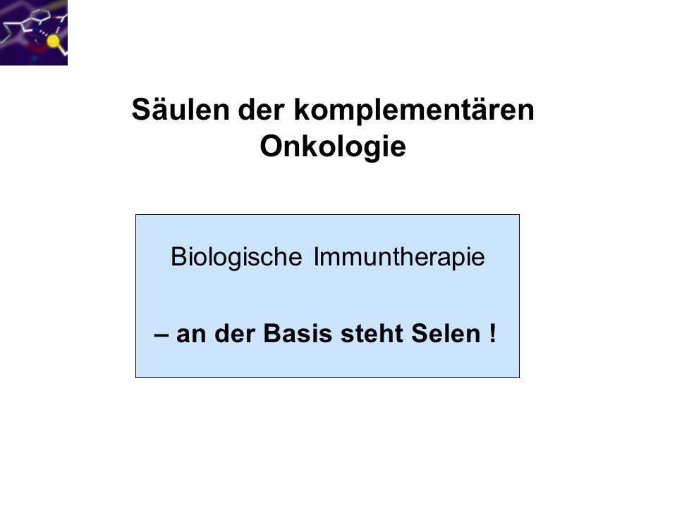 Säulen der komplementären Onkologie