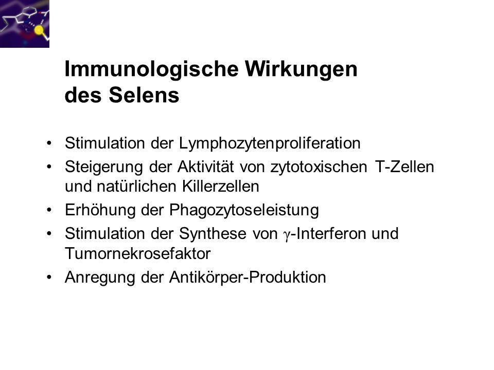 Immunologische Wirkungen des Selens