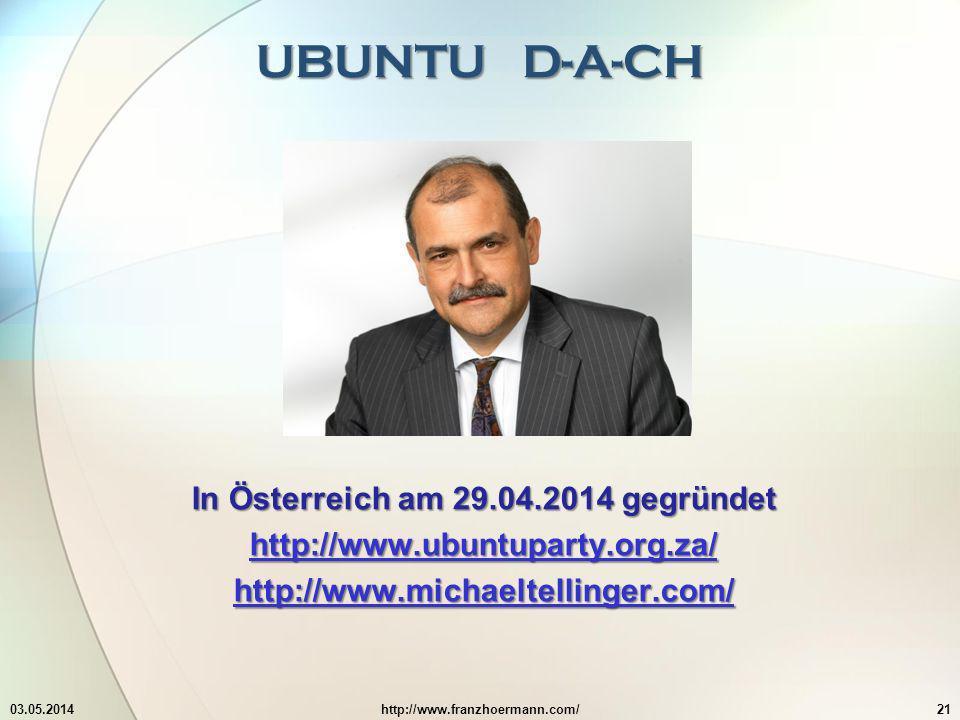 In Österreich am 29.04.2014 gegründet