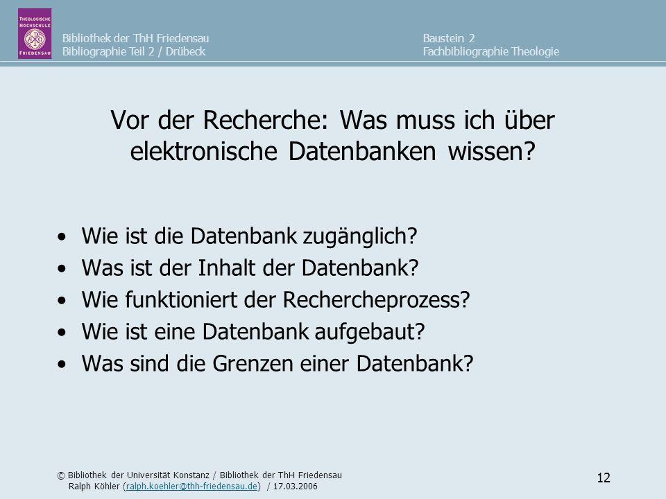 Vor der Recherche: Was muss ich über elektronische Datenbanken wissen