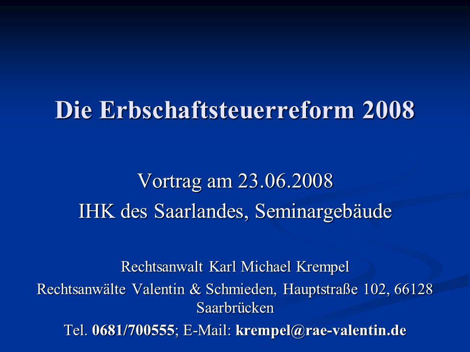 Die Erbschaftsteuerreform 2008