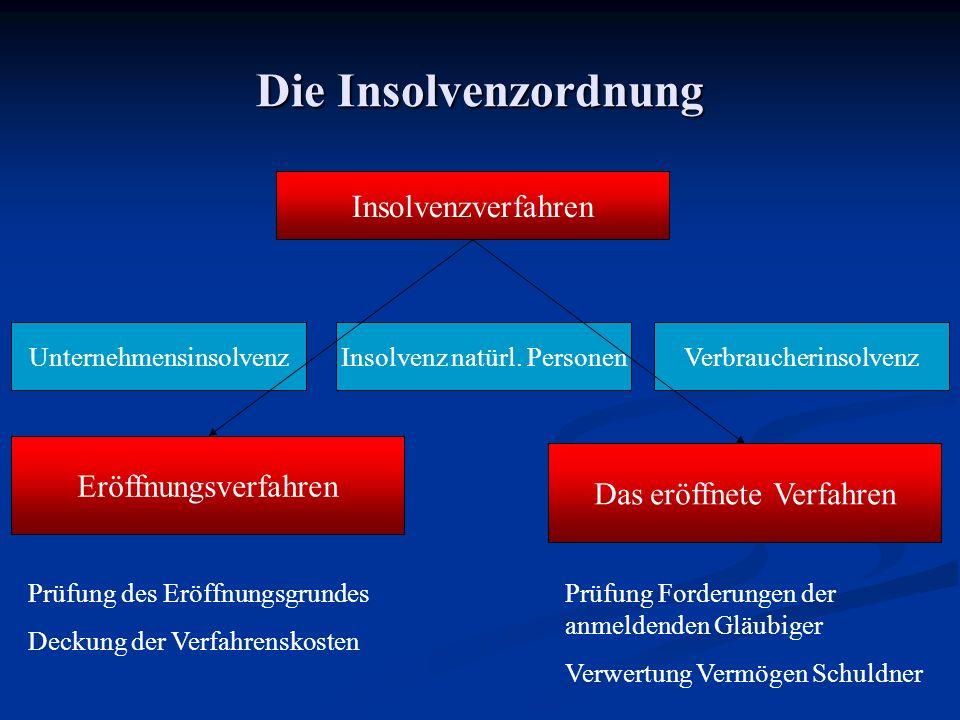 Die Insolvenzordnung Insolvenzverfahren Eröffnungsverfahren