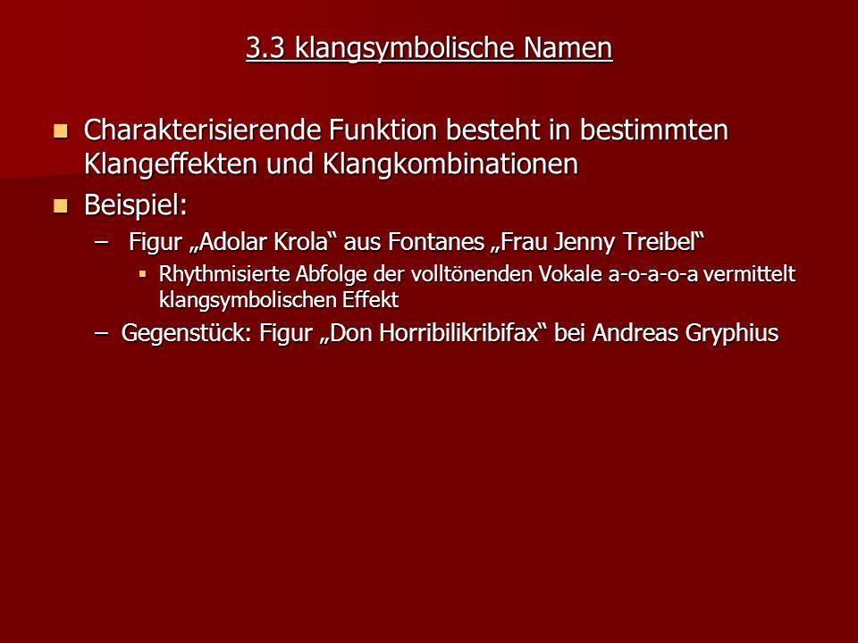 3.3 klangsymbolische Namen