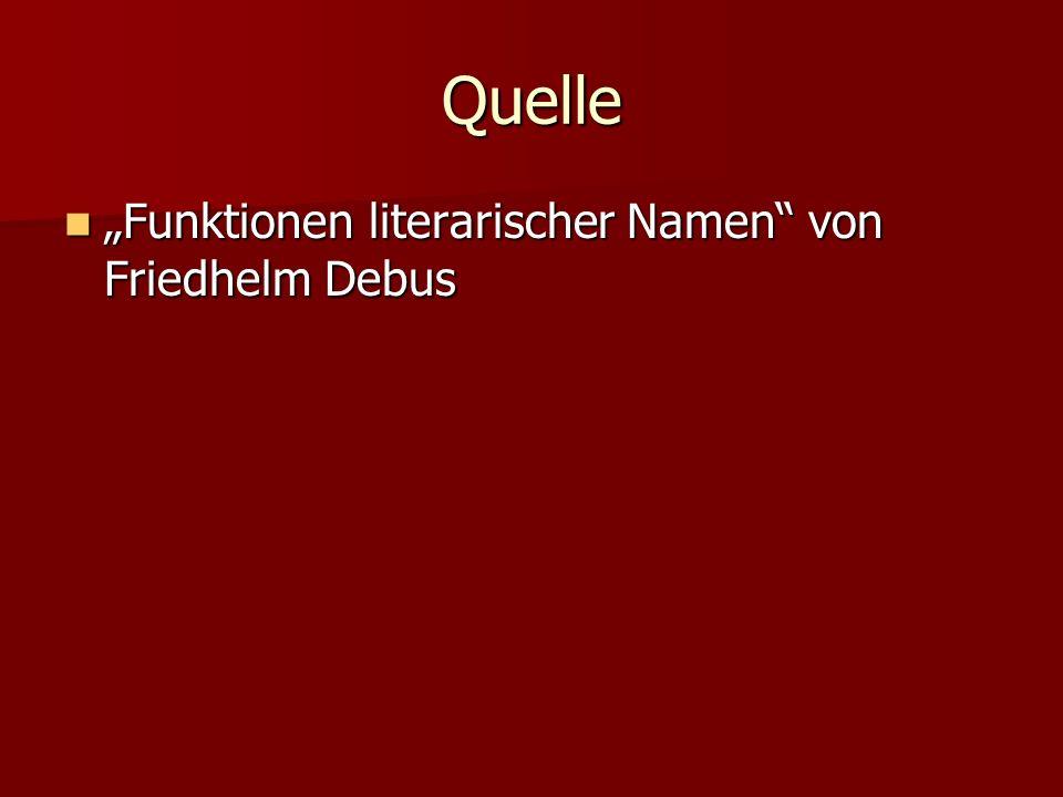 """Quelle """"Funktionen literarischer Namen von Friedhelm Debus"""