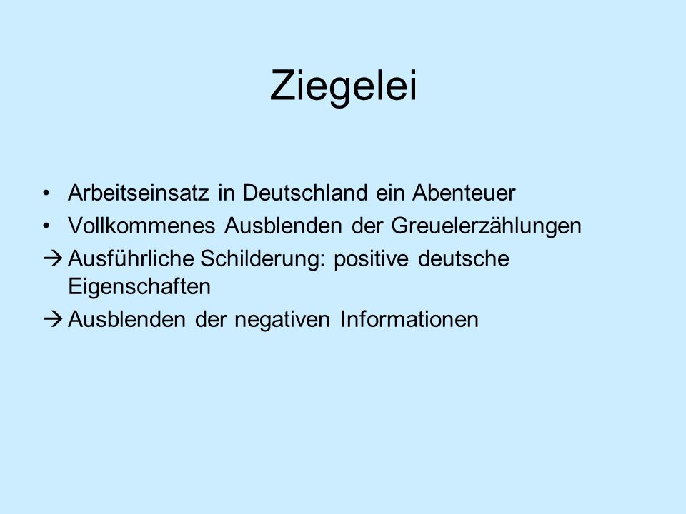 Ziegelei Arbeitseinsatz in Deutschland ein Abenteuer