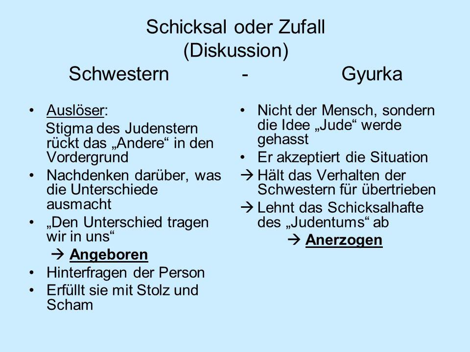 Schicksal oder Zufall (Diskussion) Schwestern - Gyurka