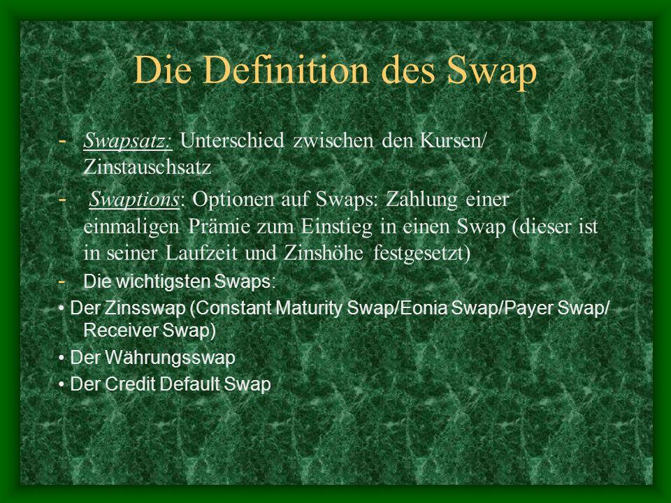 Die Definition des Swap