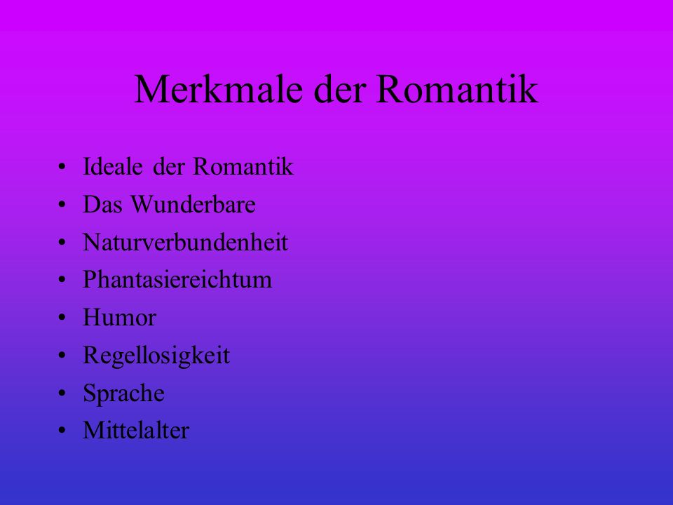 die romantik 1795 1835 was ist romantik ppt video. Black Bedroom Furniture Sets. Home Design Ideas