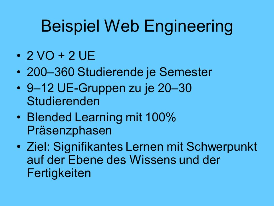 Beispiel Web Engineering