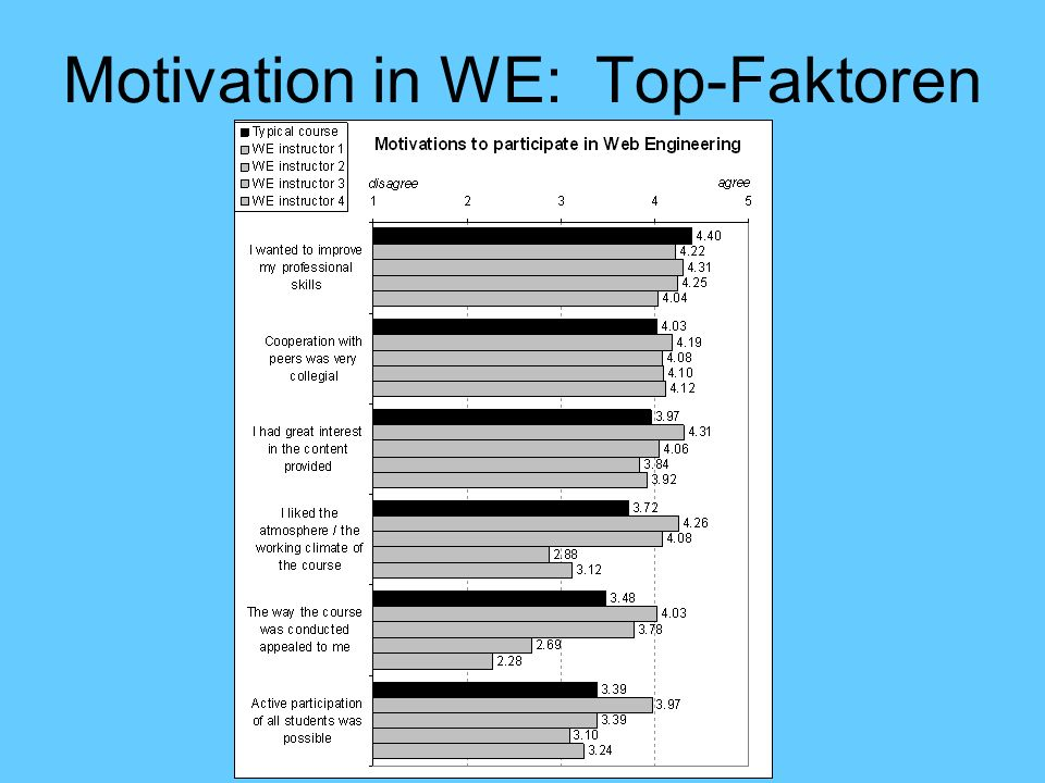Motivation in WE: Top-Faktoren