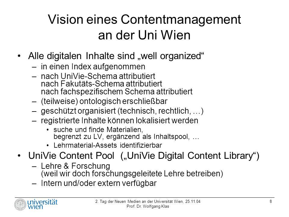 Vision eines Contentmanagement an der Uni Wien