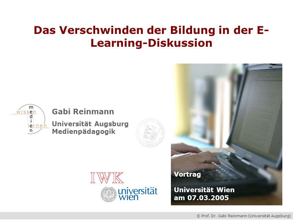 Das Verschwinden der Bildung in der E-Learning-Diskussion