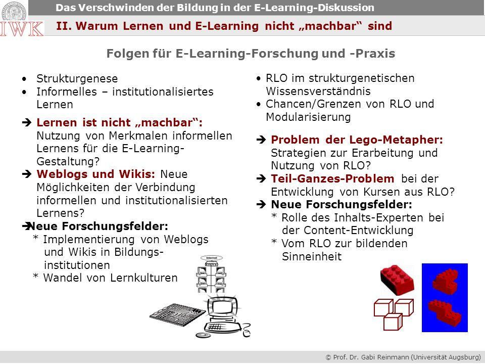 Folgen für E-Learning-Forschung und -Praxis