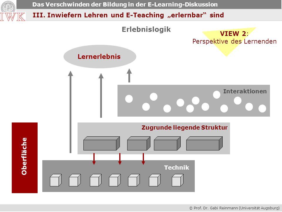 Perspektive des Lernenden